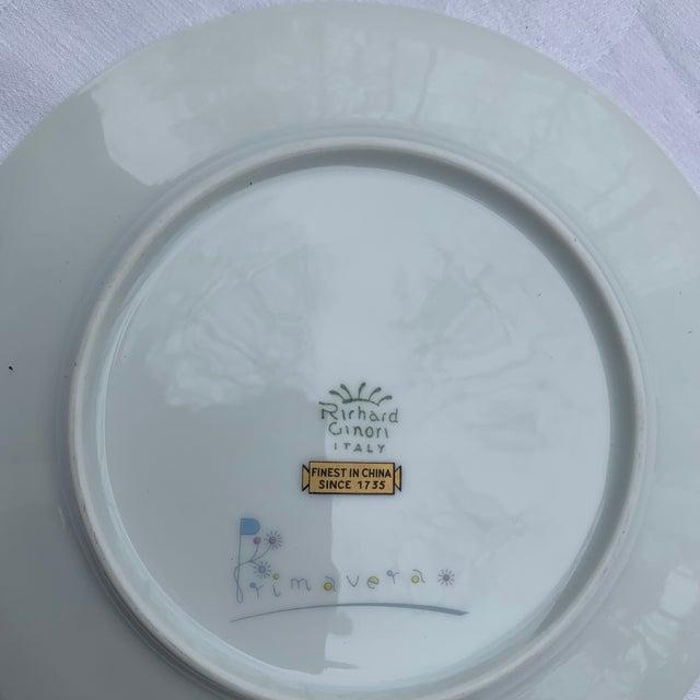 1970s Richard Ginori Primavera Salad Plates - Set of 4 For Sale - Image 6 of 7