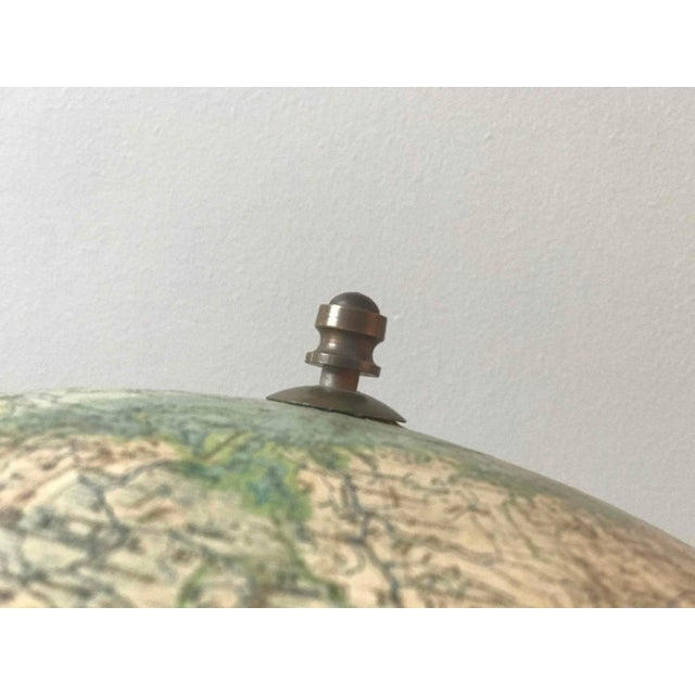 Early 20th Century Tall Globe on Black Wood Stand From Italy For Sale In Los Angeles - Image 6 of 7