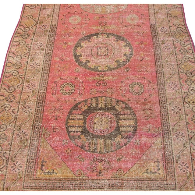 "Abstract Antique Samarkand Rug-5'8'x10"" For Sale - Image 3 of 6"