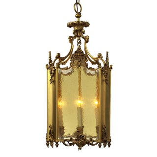 20th CenturyGothic Revival Four Cluster Pendant Lantern For Sale