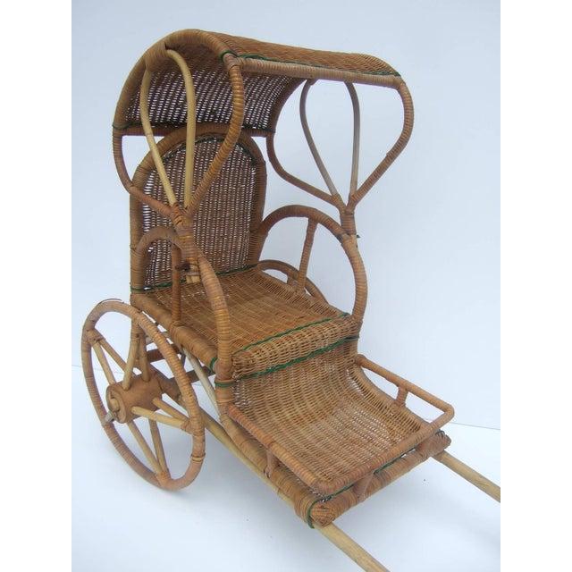 Wicker Handmade Childs Rickshaw 1950s Chairish