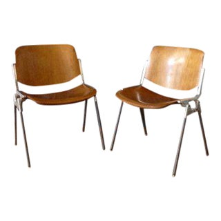 1960's Vintage Giancarlo for Castelli Italian Chairs- A Pair For Sale