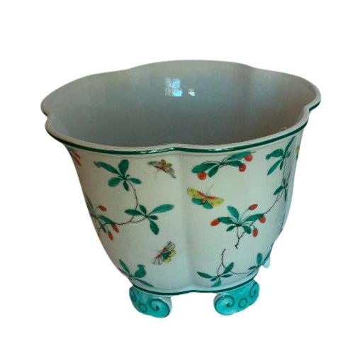 Mottahedeh Famille Verte Pattern Cache Pot For Sale