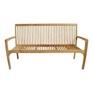 Classic Simple Teak Outdoor Bench For Sale