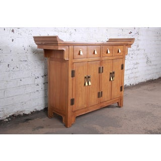Michael Taylor for Baker Furniture Chinoiserie Buffet Server or Bar Cabinet Preview
