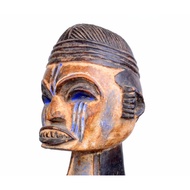 Vintage African Tribal Woman Sculpture - Image 5 of 9