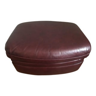 Modern Hancock & Moore Leather Ottoman For Sale