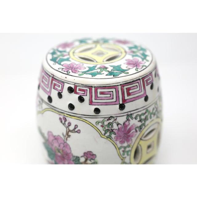 Miniature Ceramic Garden Stool Figurine For Sale - Image 4 of 13