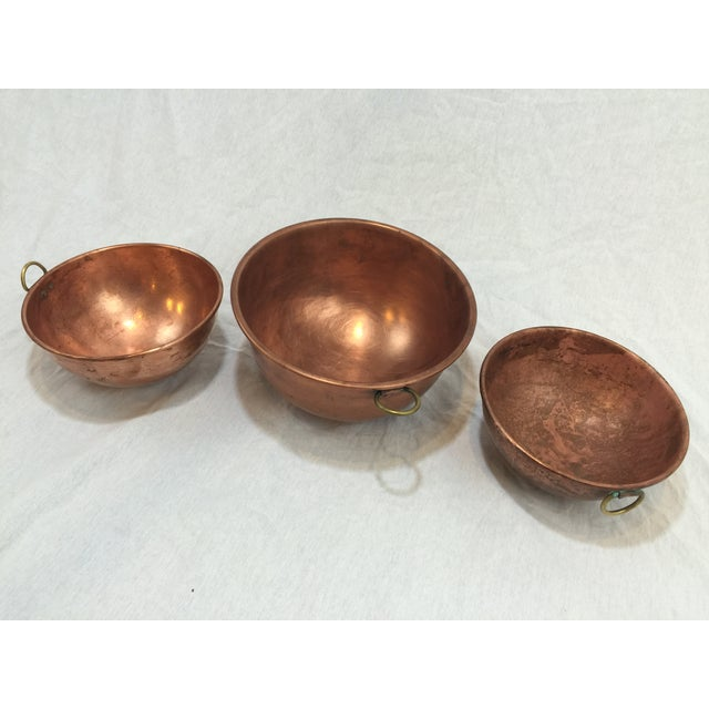 Vintage Copper Baking Bowls - Set of 3 - Image 2 of 6