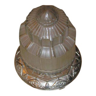 French Art Deco Ceiling Lantern For Sale
