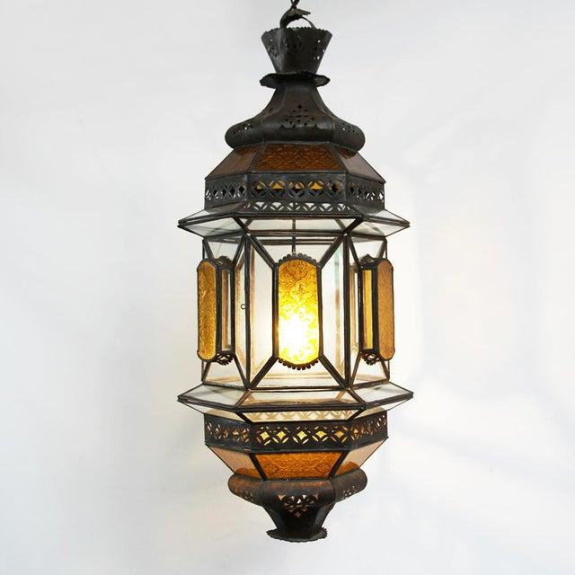 Moroccan Metal & Glass Lantern - Image 3 of 3