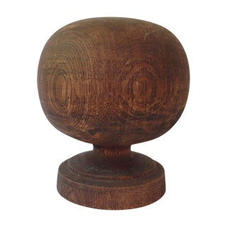 Wooden Spherical Finial