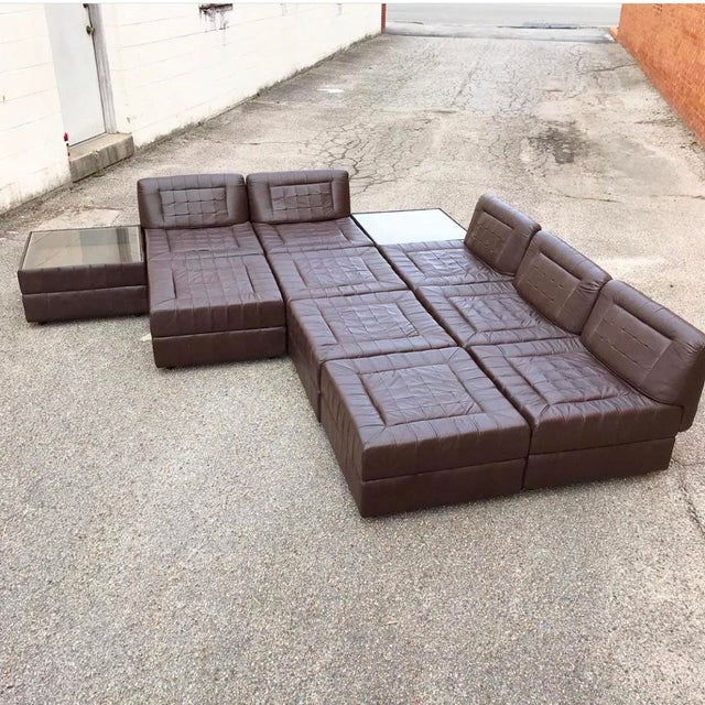 Modular Leather Sectional Sofa by Percival Lafer For Sale - Image 12 of 13