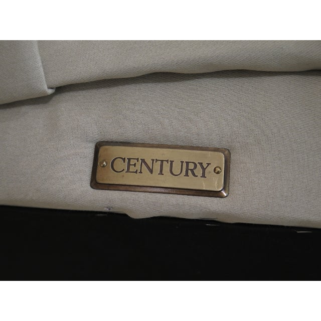 Textile Century Round Tufted Upholstered Large Ottoman For Sale - Image 7 of 8