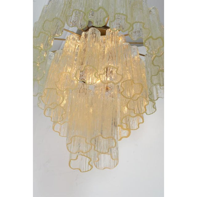 Camer Glass Camer 3 Tiered Tronchi Tube Murano Glass Chandelier For Sale - Image 4 of 7