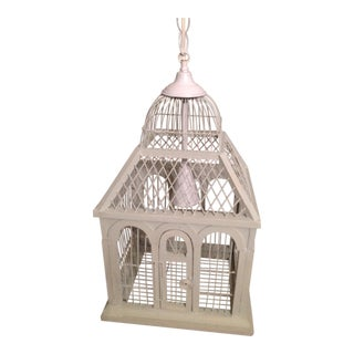 Vintage Shabby Chic Birdcage Chandelier in White