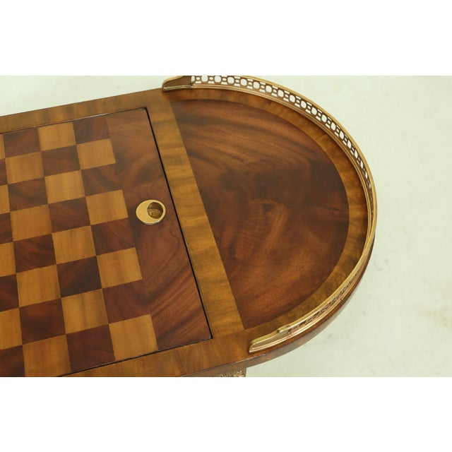 Maitland - Smith Maitland Smith Checkerboard Reversible Top Mahogany Games Table For Sale - Image 4 of 13