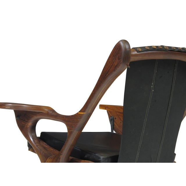 Don Shoemaker Cocobolo Rosewood Swinger Chair For Sale In San Francisco - Image 6 of 9