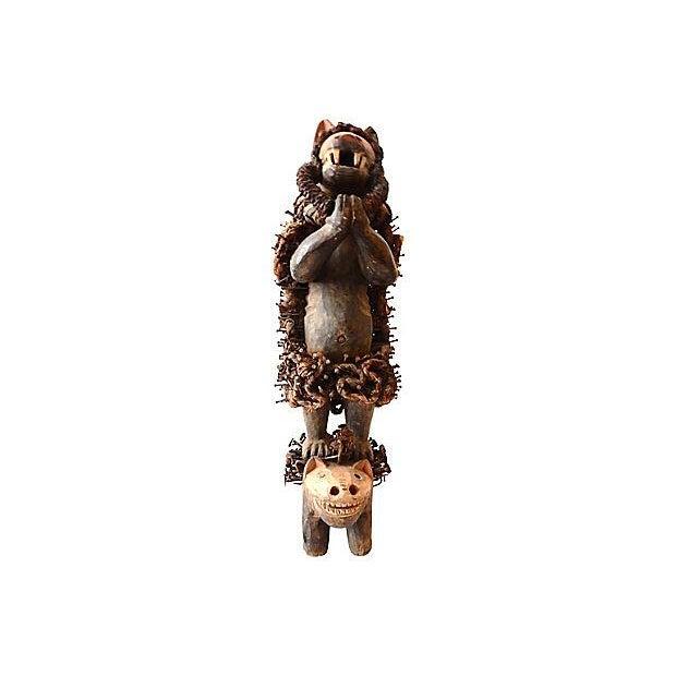 Nkisi Hyena Sculpture - Image 2 of 8