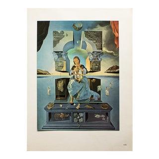 "1957 Salvador Dali ""Gala Madone"" Original Period Parisian Photogravure For Sale"