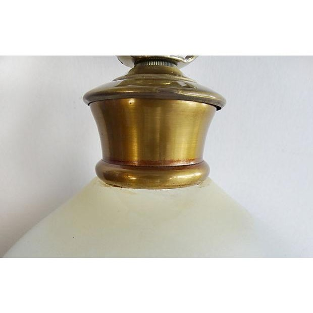 Opaline Glass Table Lamp With A Gilt-Wood Base For Sale In Miami - Image 6 of 7