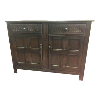 English Carved Oak Sideboard or Buffet For Sale