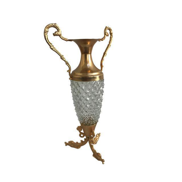 Crystal & Gold Vase - Image 8 of 9