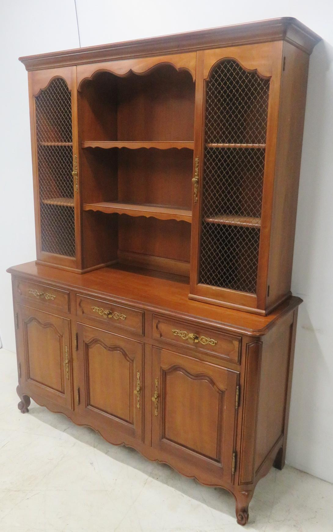 Etonnant Kindel Cherry French Style Open China Cabinet For Sale   Image 10 Of 10