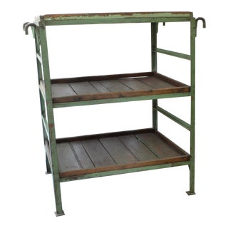 Antique Industrial Factory Shelf For Sale