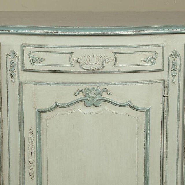 White Antique Country French Painted Buffet For Sale - Image 8 of 10