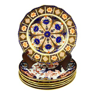 19th Century Royal Crown Derby Plates, Old Japan and Old Imari Patterns, - Set of 6, 3 of Each For Sale