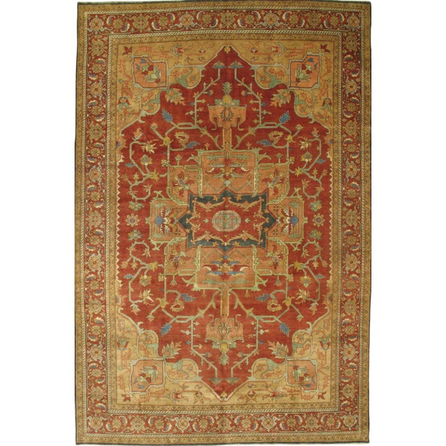 """Pasargad N Y Hand-Knotted Serapi Rug - 9'10"""" X 15' For Sale"""