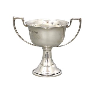 1934 Blank English Sterling Trophy For Sale