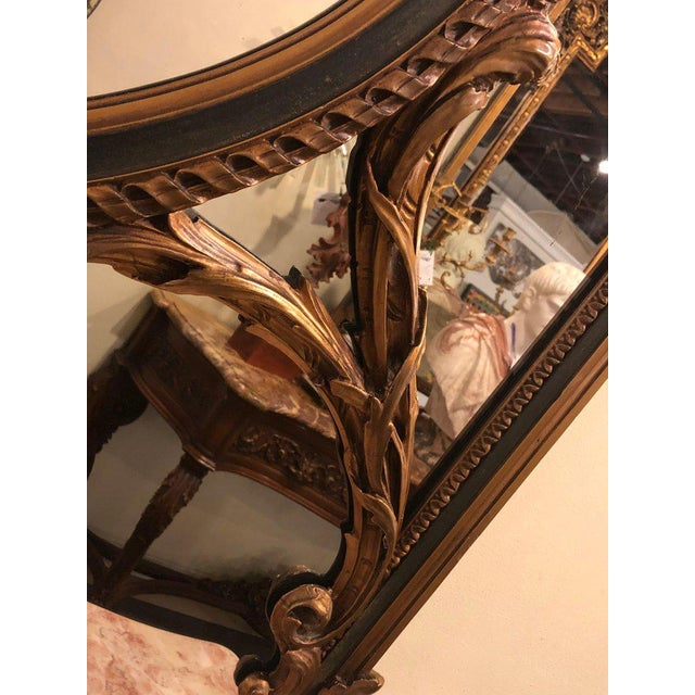 Wood Finely Carved Hollywood Regency or Adams Style Over the Mantle or Wall Mirror For Sale - Image 7 of 13
