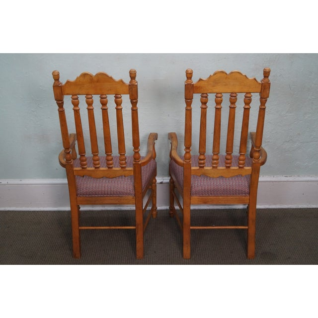 Drexel Heritage Bannister Back Dining Chairs - 4 - Image 4 of 10