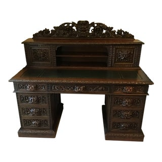 Antique Oak Greenman Desk For Sale