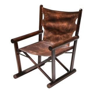 1960s Carlo Hauner Pl 22 Armchair in Jacaranda for Oca For Sale