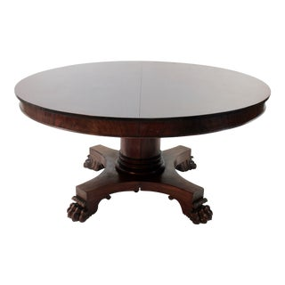 Large Round Mahogany Banquet Table