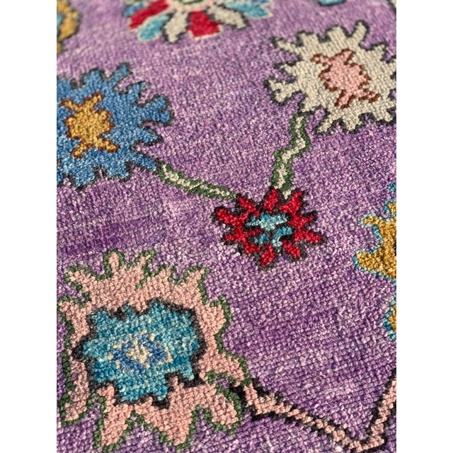 Contemporary Pastel Turkish Oushak Rug - 2′11″ × 9′11″ For Sale In Atlanta - Image 6 of 13