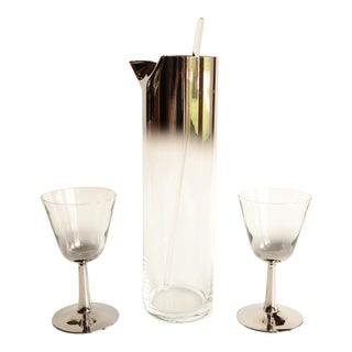 Silver Fade Cocktail Set For Sale