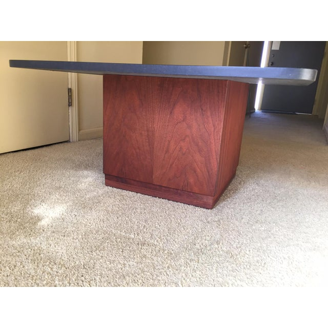 Mid-Century Modern Slate Top Coffee Table - Image 3 of 5