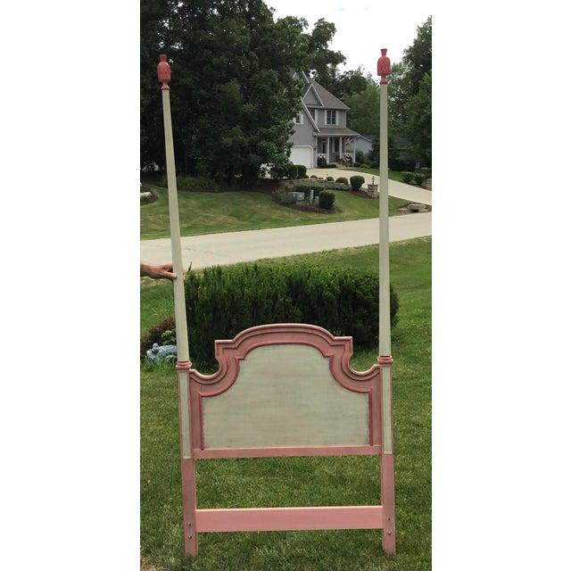 John Widdicomb John Widdicomb Painted Pink Twin Bed Headboards - A Pair For Sale - Image 4 of 9