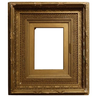 19th Century Antique French First Finish Giltwood Art Frame For Sale