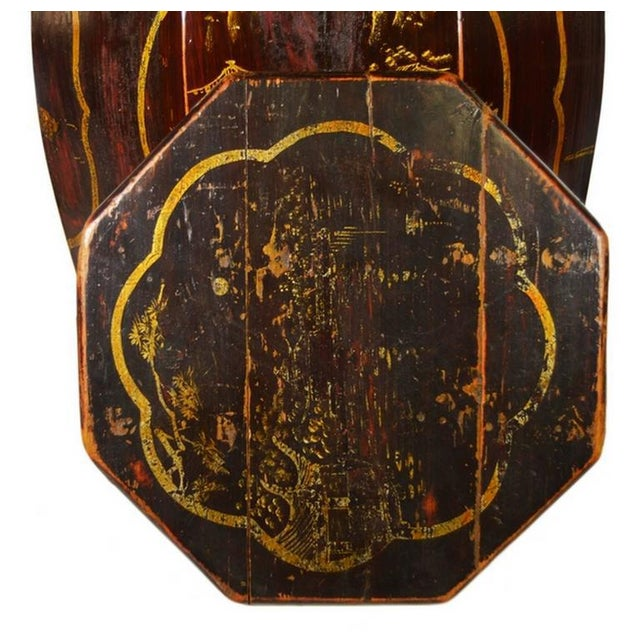 Mid 19th Century Hand-Painted Grain Storage Barrel With Medallions From, China, 19th Century For Sale - Image 5 of 11