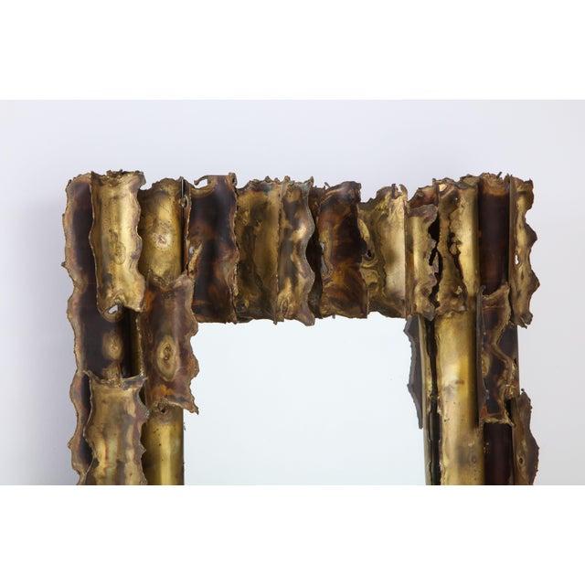 Tom Greene Custom Made Brutalist Mirror For Sale In New York - Image 6 of 12