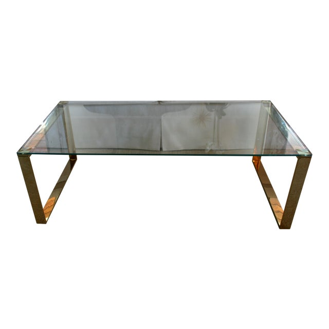 Mid Century Inspired Glass Coffee Table - Image 1 of 5
