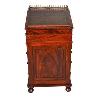 Antique English Mahogany Davenport For Sale