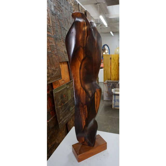 Abstract Figural Rosewood Sculpture For Sale In Palm Springs - Image 6 of 7
