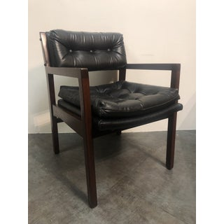 Vintage Mid-Century Gunlocke Style Black Side Chair Preview