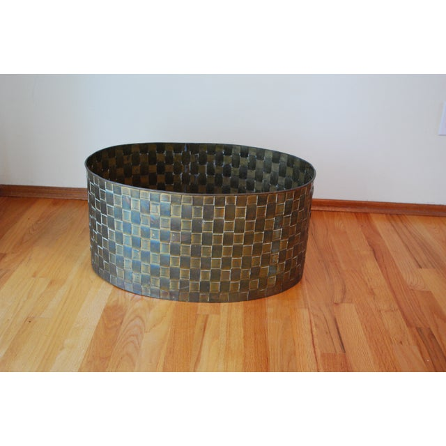 Extra Large Brass Planter by Chapman - Image 2 of 11